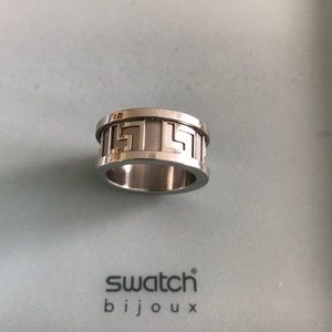 Swatch stainless steel ring size 6